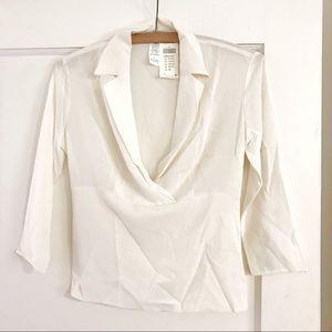 NWT Arden B Silk Half Sleeve Top